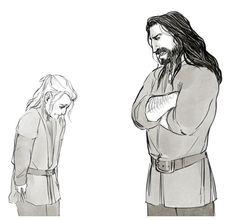 Thorin reprimanding Fili