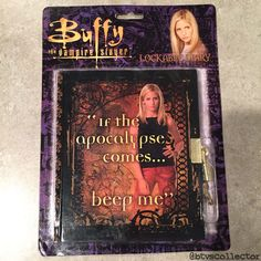 Playworks Buffy the Vampire Slayer Lockable Diary  #btvscollector #buffy #btvs #buffythevampireslayer