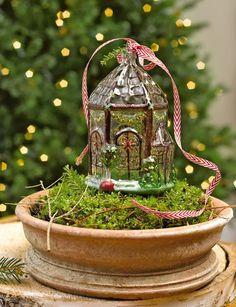 Glass Conservatory Ornament Christmas Dyi Crafts, Vintage Christmas, Christmas Decorations, Christmas Ornaments, Holiday Decor, Christmas Houses, Holiday Ideas, Glass Conservatory, Lawn Ornaments