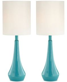 Pacific Coast Set of 2 Blue Metal Table Lamps, Only at Macy's | macys.com