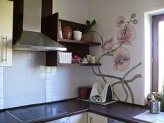 Ka, czyli Ja ....remonty, wnętrza i cały ten handmade: Waniliowa kuchnia w storczykach - metamorfoza Flower kitchen :)