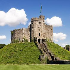 Cardiff Castle, Wales UK. About 3.5 hrs from London by train.  The Norman Keep.