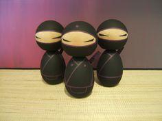 Kokeshi doll.  Ninja of your choice Black and violet version. $25.00, via Etsy.