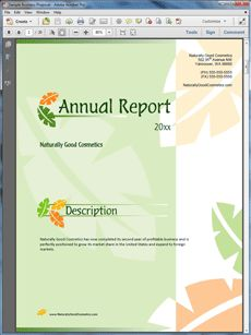 annual report of any company pdf