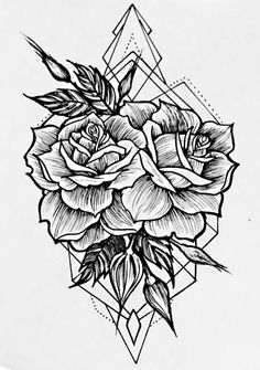 modifications tattoos, flower tattoos и tatto Fake Tattoos, Flower Tattoos, Body Art Tattoos, Tattoos For Guys, Tatoos, Geometric Rose Tattoo, Geometric Flower, Erde Tattoo, Tattoo Fleur