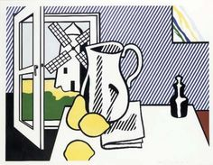 Still Life With Windmill 1974 by Roy Lichtenstein - Lithograph And Screenprint With Debossing on Rives Bfk Paper