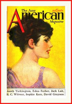 1917 June - COVER - The American Magazine - Illustrating,  'Monsieur Rienzi Takes a Hand'  by Clarence F. Underwood