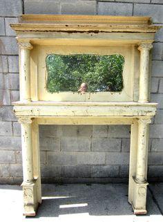 Antique fireplace mantel decor