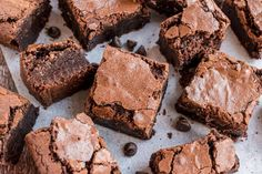 Brownie Recipes, Cookie Recipes, Dessert Recipes, Decadent Chocolate, Chocolate Flavors, Bakery Style Brownies Recipe, Bake Sale Treats, Shugary Sweets, Perfect Chocolate Chip Cookies