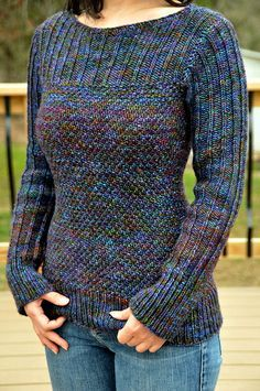 """Ravelry: On the Grass pattern by Joji Locatelli $6 """"This super comfortable pullover is worked from the top down, seamlessly and in the round."""""""