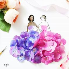 Floral illustrations by Grace Ciao - Ego - AlterEgo Moda Floral, Arte Floral, Grace Ciao, Floral Fashion, Fashion Art, Fashion Design, Flower Petals, Flower Art, Floral Illustrations