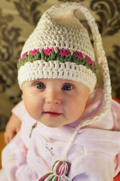 Tulips Hat Crochet Pattern for Babies and Kids by CrocheTrend, $4.99