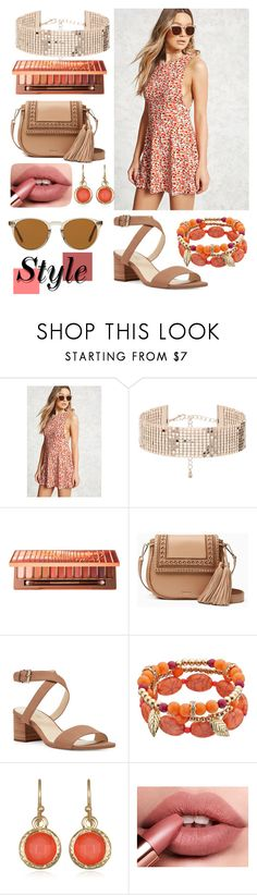 """""""summer outfit"""" by aletraghetti on Polyvore featuring moda, Forever 21, Urban Decay, Kate Spade, Nine West, Mixit y Oliver Peoples"""