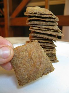Paleo Plantain Crackers #AIP #GF #Paleo - These crackers are so delicious, crunchy, and sturdy.  My family can't get enough of them.