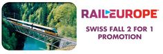Two can travel for the price of one on the 4-day within 1 month and on the 4-day consecutive Swiss Pass.  The passes are available in 1st- and 2nd-class and rail travel days can be used consecutively or non-consecutively.  The Swiss Travel System, a network of rail, buses and boats, makes every corner of Switzerland easily accessible.    Thanks to its synchronized timetable, trains run frequently connecting major cities and small villages alike, so travelers are free to get lost in the…