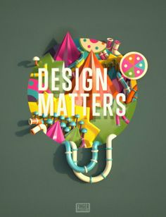 We were approached by Computer Arts to give a unique take on their tagline 'Design Matters' to go inside the magazine front cover.