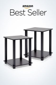 furinno 12127exbk simplistic end table set of 2