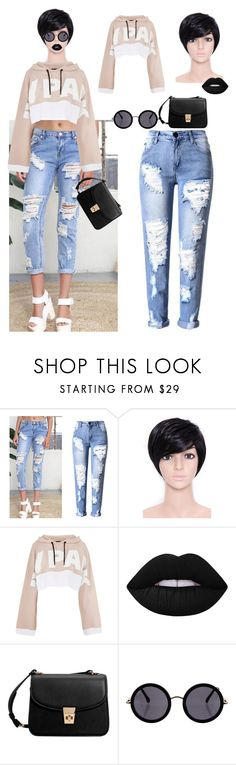 """""""fashion"""" by ee3674889 ❤ liked on Polyvore featuring WithChic, Ivy Park, Lime Crime, MANGO and The Row"""