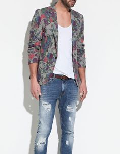 This so cool PRINTED BLAZER - Blazers - Man - ZARA