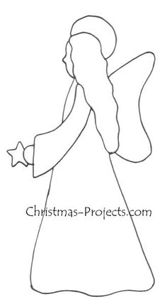 xmas card angel fabric | Christmas Craft Pattern - Angel Template