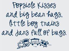 Popsicle Kissses and Big Bear Hugs Vinyl Wall Graphic