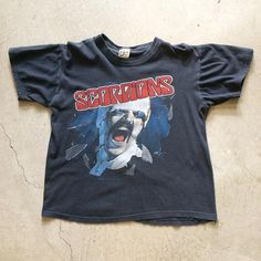 "82' Scorpions Blackout Tour Tee $85+$8(shipping) domestic. Size small (22""x18""). Contact the shop at 415-796-2398 to purchase by phone or PayPal afterlifeboutique@gmail.com and reference item in post."