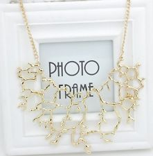 BOHO Vintage Hot Silver Gold Chain Pendant Statement Choker Collar Bib Necklace