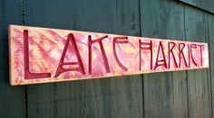 Lake Harriet Carved Sign   Minneapolis Minnesota by AmericanaSigns
