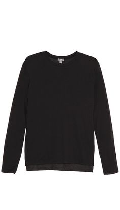 Vince Double Layered Crew Neck T-Shirt