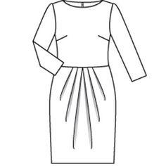 Платье - выкройка № 128 из журнала 8/2009 Burda – выкройки платьев на Burdastyle.ru