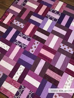 crazy mom quilts: a very purple quilt-completed