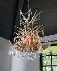 Ralph lauren homes stag chandelier combines naturally shed antlers ralph lauren straton single tier 8 light chandelier mozeypictures Gallery