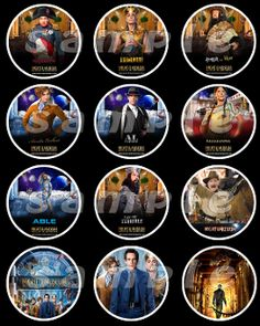 NIGHT OF THE MUSEUM 2.5 ROUND STICKERS