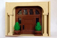 Simple yet extremely elegant when you look at the detail work! (I love that it's Legos!)