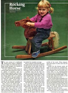 Wooden Rocking Horse Plans - Wooden Toy Plans