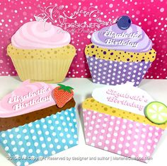 New! Printable and custom Cupcake Invitations, perfect for any event.