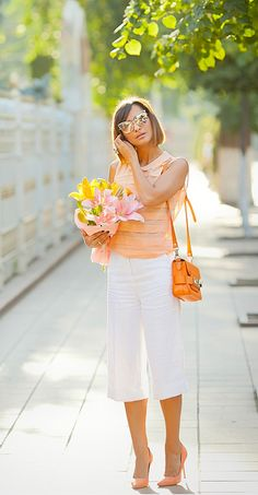 #Culottes #proenzaSchouler #Orange #StreetStyle #FashionBlogger #FashionBlog #ChicStyle #SummerOutfit #GalantGirl #Fashion