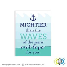 LOVE...Mightier than the waves , Print #paperramma #quotes #love #nursery