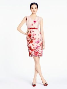 madison ave. collection watercolor coby dress