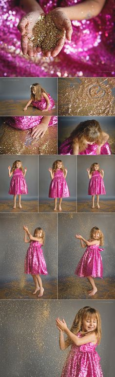 Photographing Little Girls and Glitter. Gilroy Family Photographer | JLK Glitter Shoot