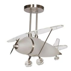 Air plane light pendant lighting. We picked up on yesterday and we are putting it in Quinn's room.
