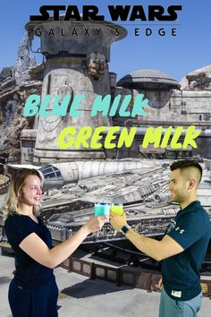 We recreated the blue and green milk from Star Wars Galaxy's Edge and they were delicious! 😬👌🏼⭐️ #starwars #galaxysedge #milkstand Disney Recipes, Disney Food, Disney Parks, Blue Milk Recipe, Star Wars Food, Passion Fruit Juice, Yellow Food Coloring, Yellow Foods, Disneyland California