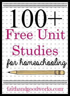 The Ultimate Collection of Free Unit Studies for an Entire Year of Homeschooling Your Preschool to High School Aged Students. Homeschool High School, Free Homeschool Curriculum, Online Homeschooling, Homeschooling Statistics, Catholic Homeschooling, Art Curriculum, Kindergarten Units, Software, School Resources