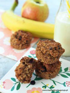 muffinki śniadaniowe banan płatki owsiane