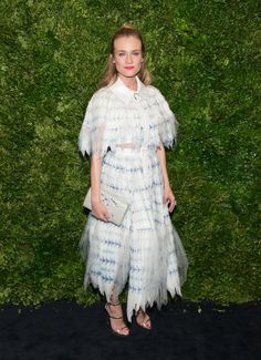 Pin for Later: 10 Celebrity Looks That'll Make You Consider Trading in Your LBD Diane Kruger In a white Chanel dress at the 8th Annual Museum of Modern Art Film Benefit honoring Cate Blanchett.