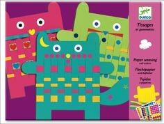 "DIY Lovely Paper Weaving ""Card Cats"" serieus business for childrens fine motor skills :-D"
