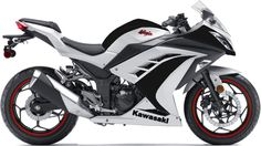 Kawasaki Ninja 300 Black and White with Red Rims