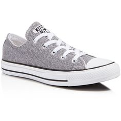Converse All Star Sparkle Knit Low Top Sneakers ($60) ❤ liked on Polyvore featuring shoes, sneakers, glitter sneakers, converse shoes, converse sneakers, knit shoes and converse trainers