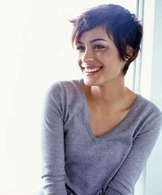 Short Pixie Haircut Model