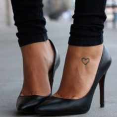 simple cute tattoo for the feet